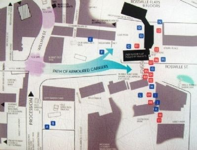 Map on Bloody Sunday Marker image. Click for full size.