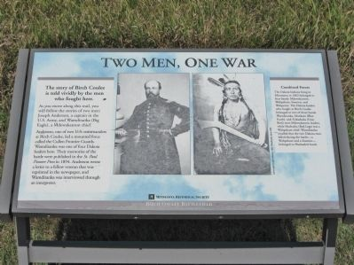 Two Men, One War Marker image. Click for full size.