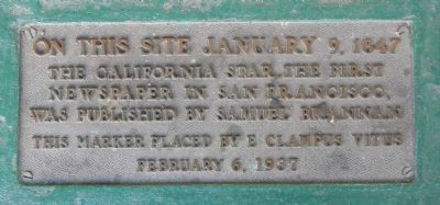 California Star Marker image. Click for full size.