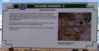 South Base Area Marker image. Click for full size.