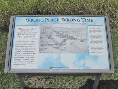 Wrong Place, Wrong Time Marker image. Click for full size.