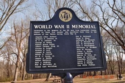 World War II Memorial Marker J-P side 3 update image. Click for full size.
