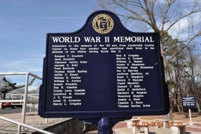 World War II Memorial Marker D-I side 2 update image. Click for full size.