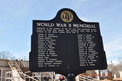 World War II Memorial Marker P-Y side 4 update image. Click for full size.