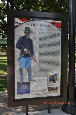 Late Indian Wars Marker image. Click for full size.