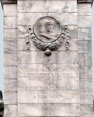 Christopher Columbus Marker<br>(North Face) image. Click for full size.