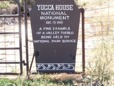 Yucca House National Monument Marker image. Click for full size.