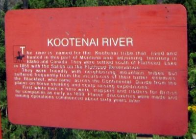 Kootenai River Marker image. Click for full size.