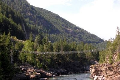 Swing Pedestrian Bridge over the Kootenai River image. Click for full size.