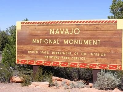 Sign at the entrance to the National Monument image. Click for full size.