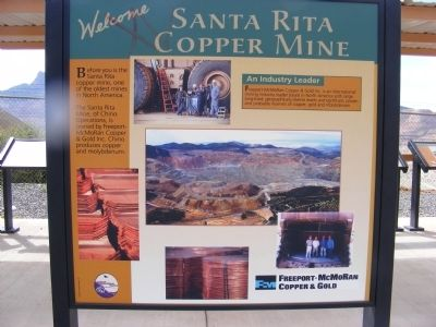 Santa Rita Copper Mine Marker image. Click for full size.
