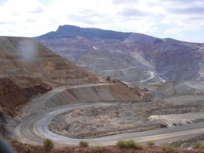 Santa Rita Copper Mine-Open Pit image. Click for full size.