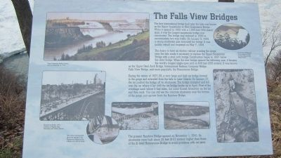 The Falls View Bridges Marker image. Click for full size.