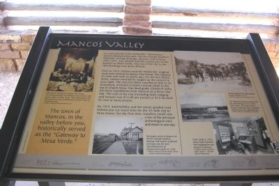Mancos Valley Marker image. Click for full size.
