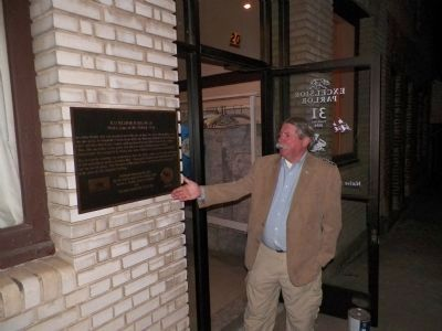 Past Grand President James Shadle with the Excelsior Parlor 31 Marker image. Click for full size.