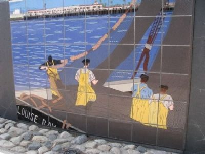 Fishing Industry Memorial Mural image. Click for full size.