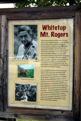 Whitetop / Mt. Rogers Marker image. Click for full size.