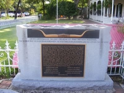 Distant shot of the Henry D. Gruene Marker image. Click for full size.