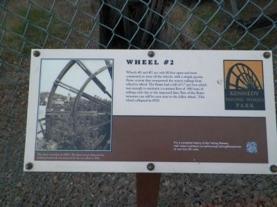 Tailings Wheel #2 Information Sign image. Click for full size.