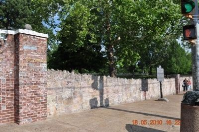 Wall in front of Graceland image. Click for full size.