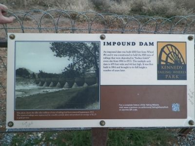 The Impoundment Dam Information Sign image. Click for full size.