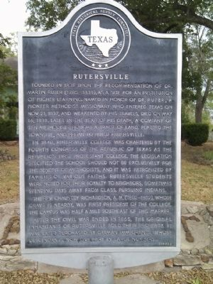 Rutersville Marker image. Click for full size.