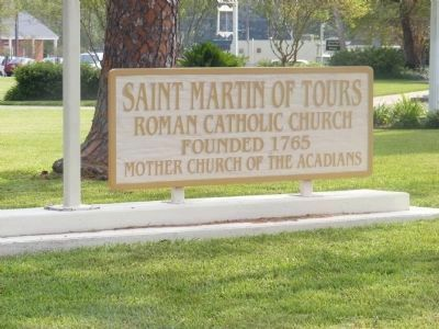 St. Martin of Tours Roman Catholic Church-sign on front lawn image. Click for full size.