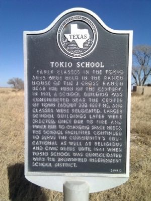Tokio School Marker image. Click for full size.