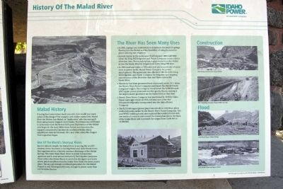 History of the Malad River Marker image. Click for full size.