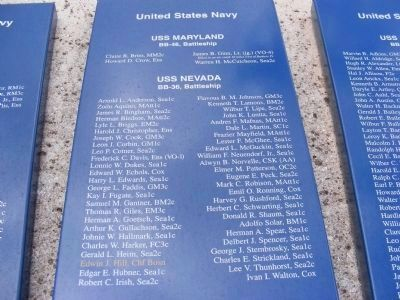 USS Maryland and USS Nevada casualties image. Click for full size.