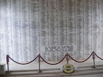 USS Arizona casualties located at the Memorial image. Click for full size.