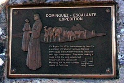 Dominguez - Escalante Expedition Marker image. Click for full size.