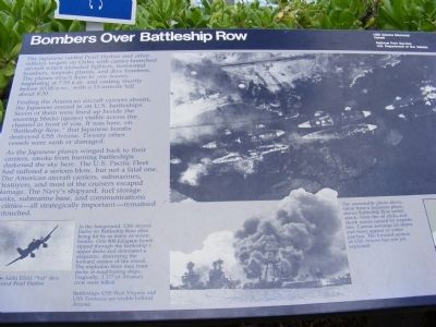 Bombers Over Battleship Row Marker image. Click for full size.