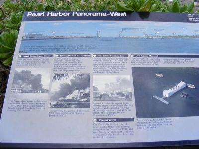 Pearl Harbor Panorama-West Marker image. Click for full size.