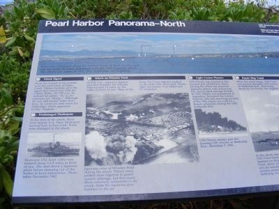 Pearl Harbor Panorama-North Marker image. Click for full size.