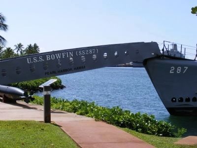 USS Bowfin gang plank image. Click for full size.