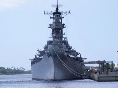 Battleship USS Missouri Memorial-across the harbor image. Click for full size.