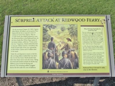 Surprise Attack at Redwood Ferry Marker image. Click for full size.