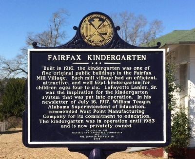 Fairfax Kindergarten Marker image. Click for full size.