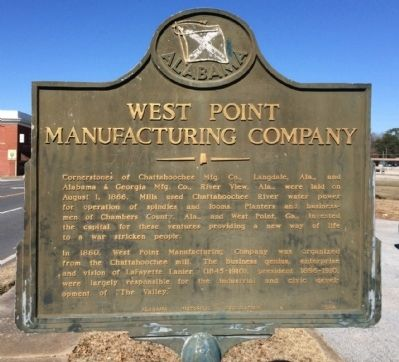 West Point Manufacturing Company Marker image. Click for full size.