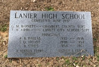 Lanier High School Cornerstone image. Click for full size.