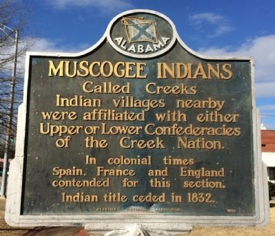 Muscogee Indians Marker image. Click for full size.