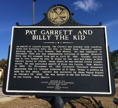 Pat Garrett and Billy the Kid Marker image. Click for full size.