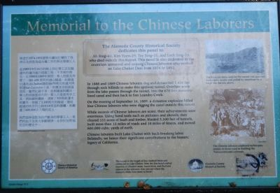 Memorial to the Chinese Laborers Marker image. Click for full size.