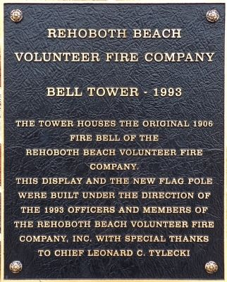 Rehoboth Beach Volunteer Fire Company Marker image. Click for full size.