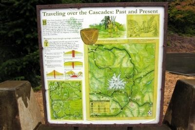 Traveling Over the Cascades: Past and Present Marker image. Click for full size.