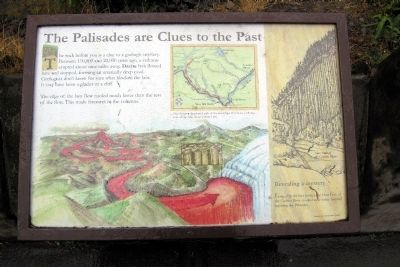 The Palisades are Clues to the Past Marker image. Click for full size.