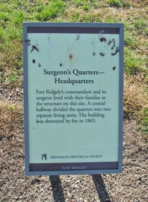 Surgeon's Quarters—Headquarters Marker image. Click for full size.