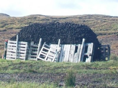 Cut Peat Pile image. Click for full size.
