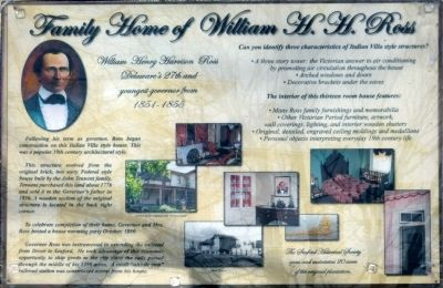 Family Home of William H. H. Ross Marker image. Click for full size.